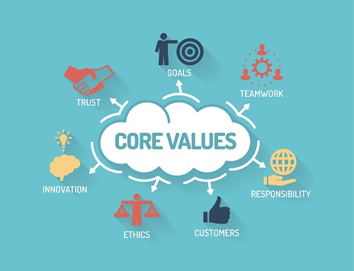 what are work values
